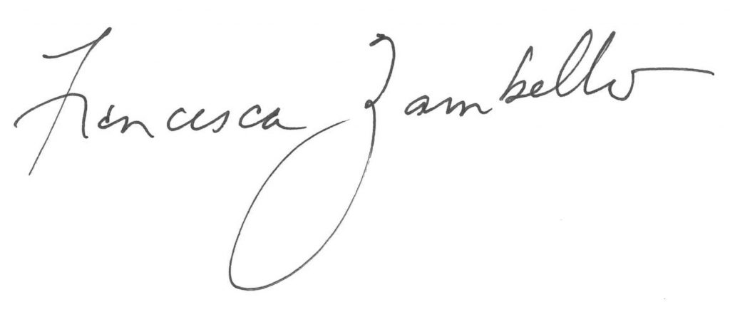 Francesca Zambello signature