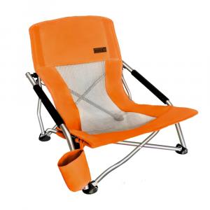 an orange beach chair